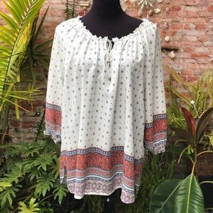 Faded Glory bohemian blouse